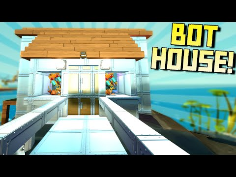 I Built A Luxury Home for My Haybot Enemies! [and Hank]  - Scrap Mechanic Survival Mode [SMS 54]