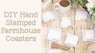 Hand Stamped Farmhouse Coasters