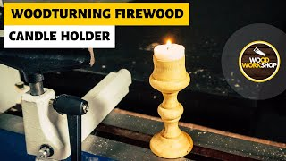 Woodturning Firewood - Candle Holder