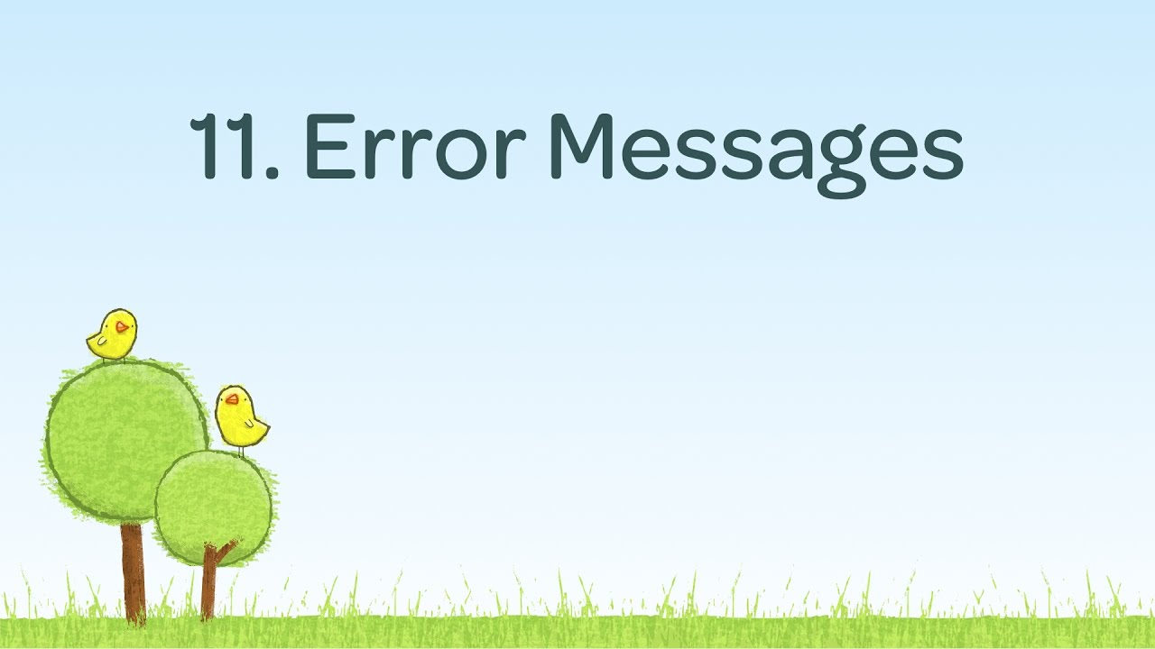 Contact Form Error Messaging