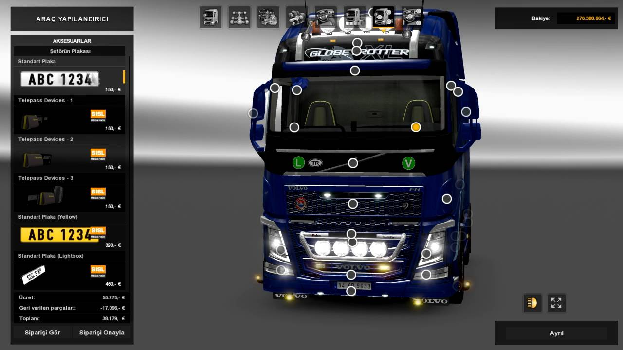 New Volvo Fh16 Accessories Interior V2 5 1 25x Mod For Ets 2