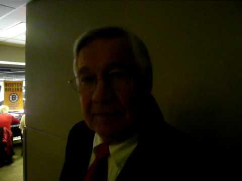 me interviewing boston bruins legend johnny bucyk!