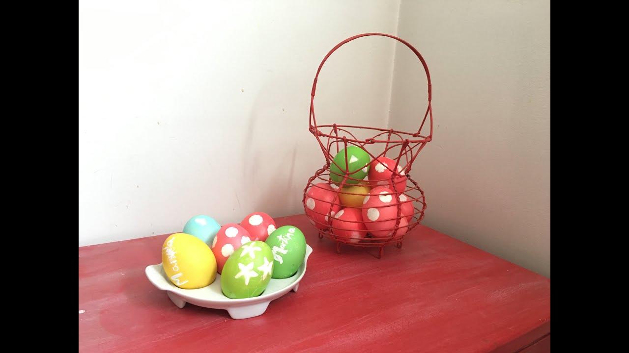 Cómo decorar  huevos. Pintar huevos