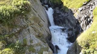 Wasserfall - Philosophische Bildwanderung Franz Senn Hütte- Neustift in Tirol - Stubaital - Österreich