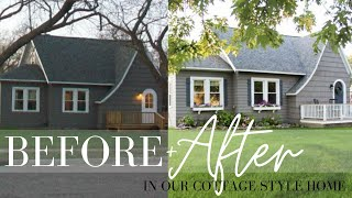 Before And After: Our Cottage Style Home