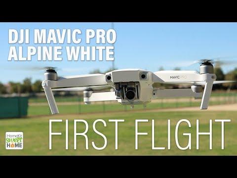 DJI Mavic Pro Alpine White - FIRST FLIGHT