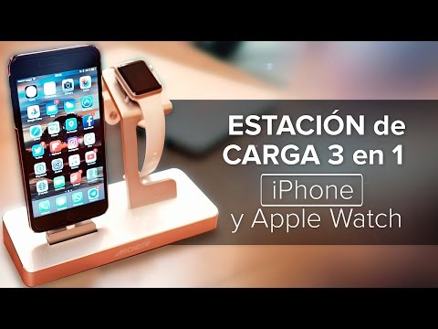 Estación de carga 3 en 1 para iPhone y Apple Watch