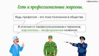 "Видеоурок по русскому языку ""Жаргонизмы"""