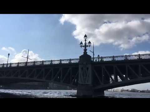 Sailing under the bridge. Saint-Petersburg. Проплывая под мостом. Санкт-Петербург.