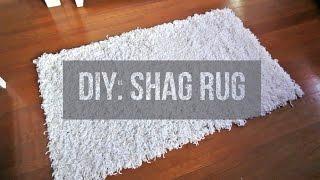 DIY    Soft, Fluffy, White Shag Rug   Area Rug   Floor Rug