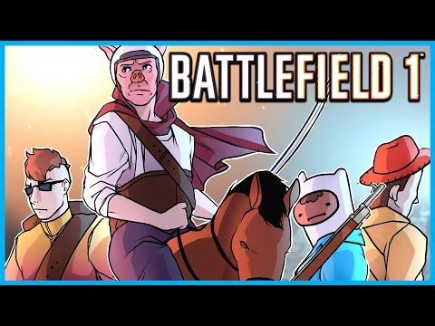 BATTLEFIELD 1 BETA FUNNY MOMENTS! - TANK & SNIPER RAGE, BAYONET KILLS, HORSES, AND FAILS!