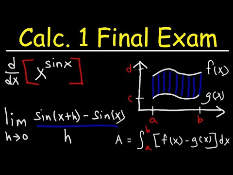 Calculus 1 Final Exam Review - YouTube