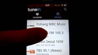 Listen to South Korean radio station