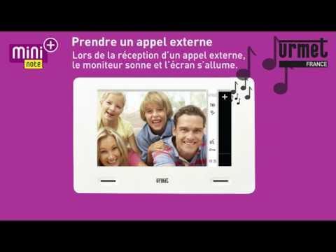 Mini Note Plus - Utilisation : prise d'appel et réglages pendant l'appel