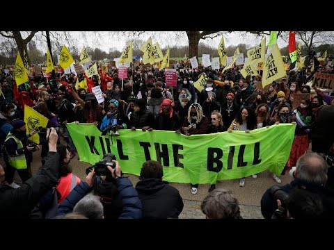 Ηνωμένο Βασίλειο: Διαδηλώσεις κατά του νομοσχεδίου για τις αρμοδιότητες της αστυνομίας…
