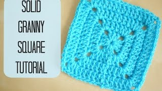 CROCHET: How to crochet a solid granny square for beginners | Bella Coco