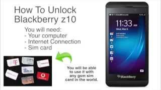 How To Unlock Blackberry Z10 - Works 100% for all carriers worldwide!