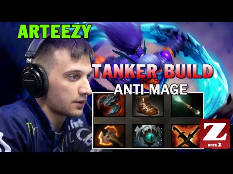 ARTEEZY Anti Mage Full TANKER Build - BEST CARRY OF GAME DOTA 2