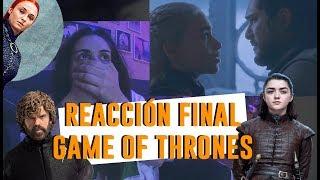 REACCIÓN FINAL JUEGO DE TRONOS 8X06   Andrea Compton