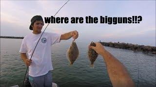 Last minute flounder/fluke BITE! - Virginia beach, VA (rudee inlet)