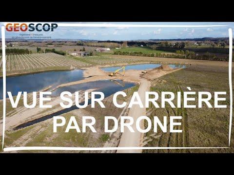 Vue sur carrière par drone