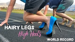 100m In HIGH HEELS By MEN!!! | WORLD RECORD
