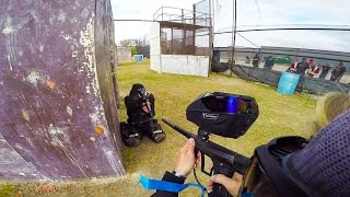 Insane Paintball Shot to the THROAT