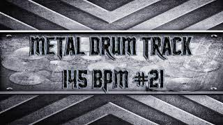 Simple Straight Metal Drum Track 145 BPM (HQ,HD)