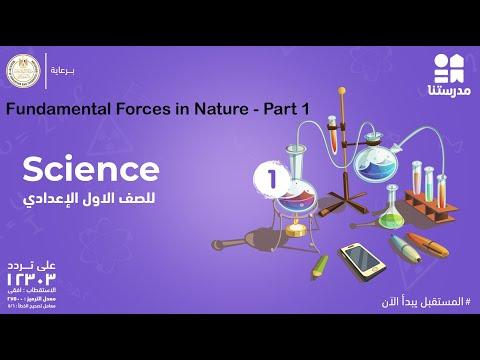 Fundamental Forces in Nature | الصف الأول الإعدادي | Science - Part 1