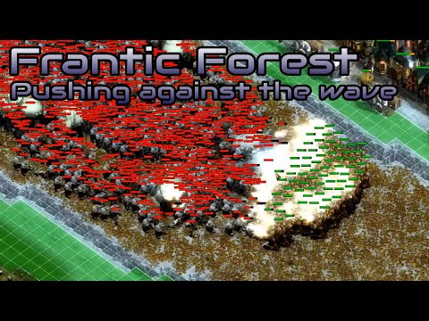 They are Billions - Frantic Forest - Pushing against the wave - Custom Map - No Pause