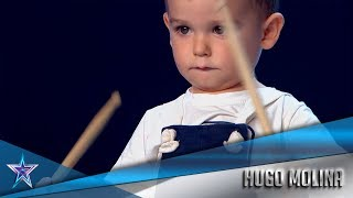 The YOUNGEST CONTESTANT EVER Plays The DRUM Like A Pro | Auditions 1 | Spain's Got Talent Season 5