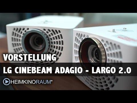 Vorstellung LG Largo 2.0 und LG Adagio 2.0 - LED Beamer Normal und Ultrakurzdistanz