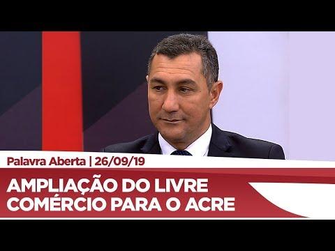 Jesus Sérgio explica regime fiscal de livre comercio de exportação e importação