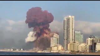 Eksplozja w Bejrucie z 10 różnych perspektyw. Aż trudno uwierzyć w siłę wybuchu