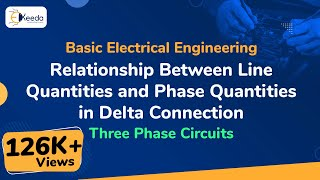 Relationship Between Line Quantities and Phase Quantities in Delta Connection - Three Phase Circuits