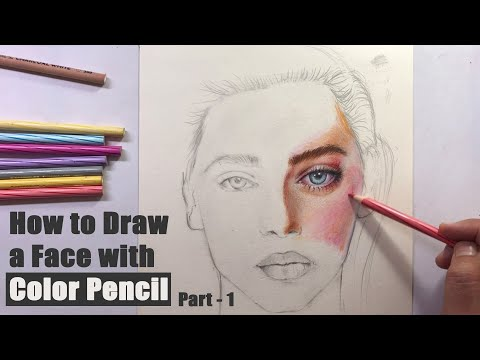 How to Draw a Face with Color Pencil | Realistic Portrait drawing for Beginners with easy techniques