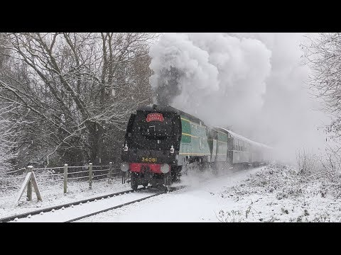 Snow comes to the Nene Valley Railway 9th December 2017