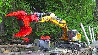 RC CONSTRUCTION VEHICLES IN ACTION! HEAVY RC TRANSPORTATION! BIG LIEBHERR R970 SME! UNIQUE RC TOYS