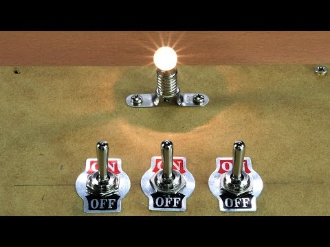 Interruptores en Serie y Paralelo. ELECTRICIDAD.