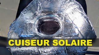 Test du cuiseur solaire: ça marche!