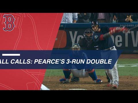 Steve Pearce's clutch three-run double heard around the world