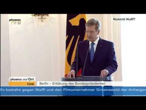 Rücktrittserklärung von Christian Wulff