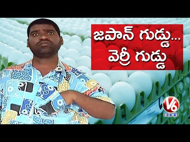 Bithiri Sathi Wants Japan Eggs | Gopichand Academy Imports Premium Eggs For Students