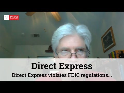 Direct Express violates FDIC regulations. We must come together for class action suit.