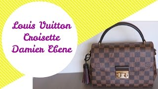 Louis Vuitton Croisette Damier Ebene   Review   Red Ruby Creates