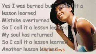 Lesson Learned by Alicia Keys ft. John Mayer LYRICS