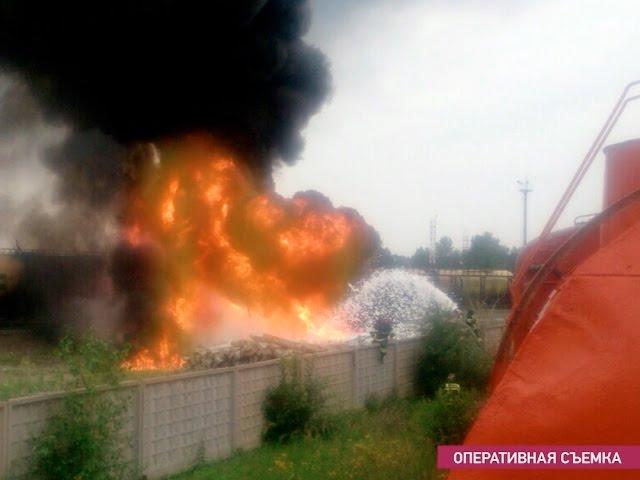 На Суховской сгорела цистерна