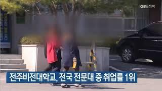 KBS뉴스-전주비전대학교, 전국 전문대 중 취업률 1위-20211014 영상 섬네일