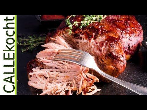 Pulled Pork zubereiten. Rezept aus dem Römertopf