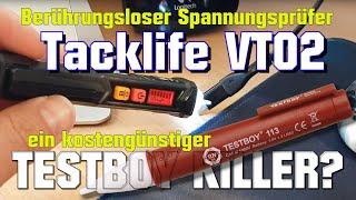 Berührungsloser Spannungsprüfer Tacklife VT02 - Testboy Killer? - unpacking & test [deutsch/german]